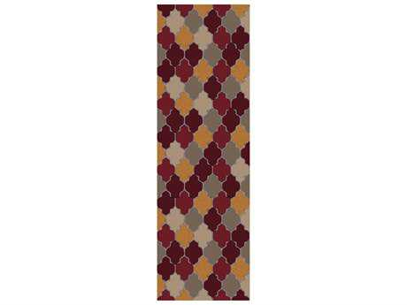 Surya Brilliance 2'6'' x 8' Rectangular Burgundy Runner Rug