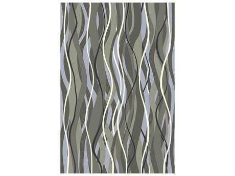 Surya Brilliance Rectangular Moss Black & Light Gray Area Rug