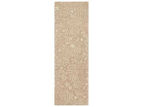 Surya Brilliance 2'6'' x 8' Rectangular Camel & Cream Runner Rug