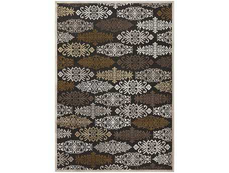 Surya Basilica Rectangular Brown Area Rug