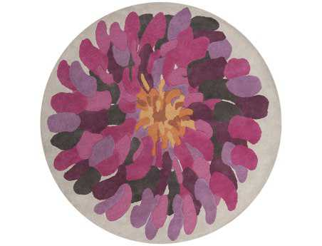 Surya Bombay 8' Round Purple Area Rug