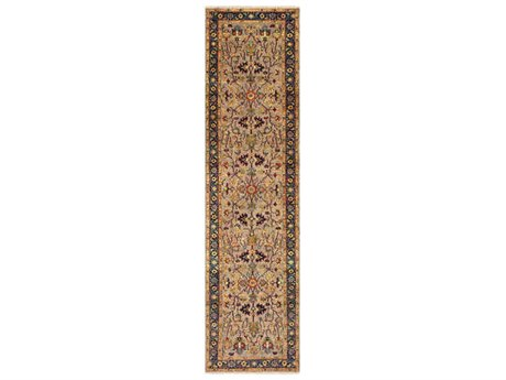 Surya Bursa 2'6'' x 10' Rectangular Dark Brown, Khaki & Camel Runner Rug