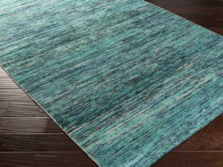 Surya Bazaar Rectangular Teal Area Rug