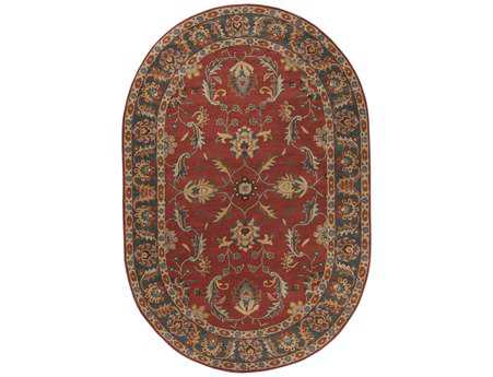 Surya Caesar Oval Red Area Rug