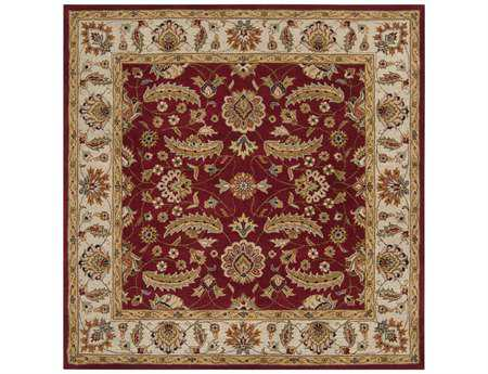 Surya Caesar Square Red Area Rug