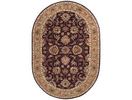 Surya Caesar Oval Purple Area Rug