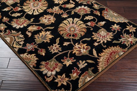 Surya Caesar Oval Black Area Rug
