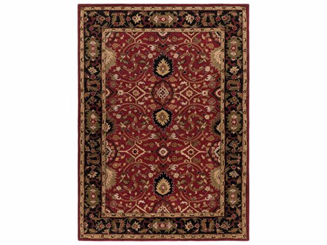 Surya Caesar Rectangular Red Area Rug