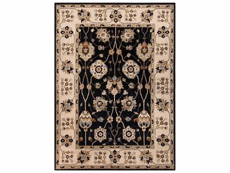 Surya Caesar Rectangular Black Area Rug