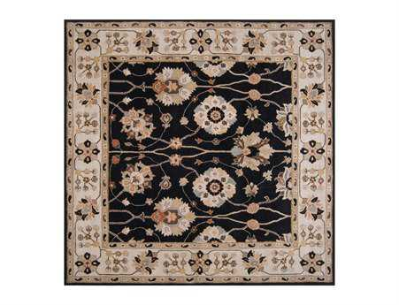 Surya Caesar Square Black Area Rug