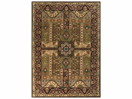 Surya Caesar Rectangular Green Area Rug