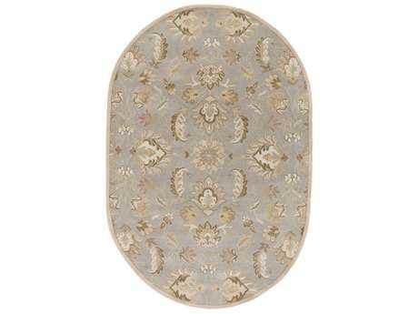 Surya Caesar Oval Medium Gray, Ivory & Taupe Area Rug