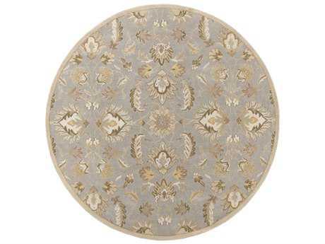 Surya Caesar Round Medium Gray, Ivory & Taupe Area Rug