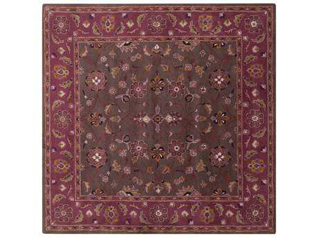 Surya Caesar Square Dark Purple, Dark Brown & Camel Area Rug