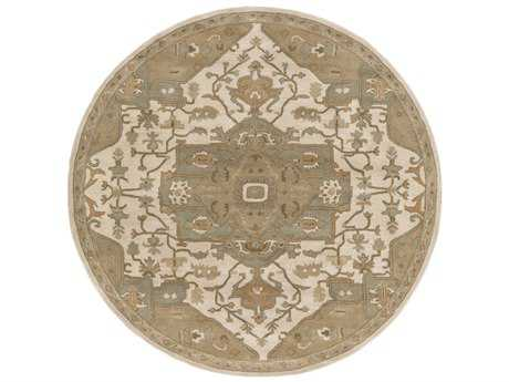 Surya Caesar Round Khaki, Medium Gray & Light Gray Area Rug