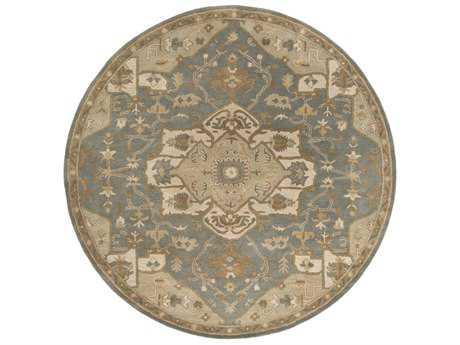 Surya Caesar Round Medium Gray, Khaki & Light Gray Area Rug