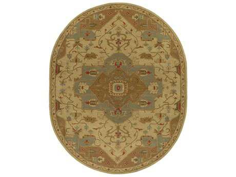 Surya Caesar Oval Tan, Dark Brown & Dark Green Area Rug