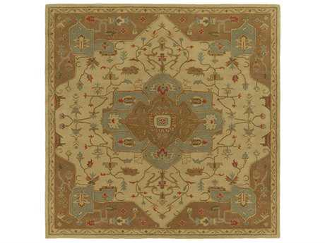 Surya Caesar Square Tan, Dark Brown & Dark Green Area Rug