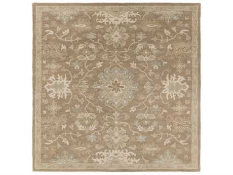 Surya Caesar Square Camel, Medium Gray & Light Gray Area Rug