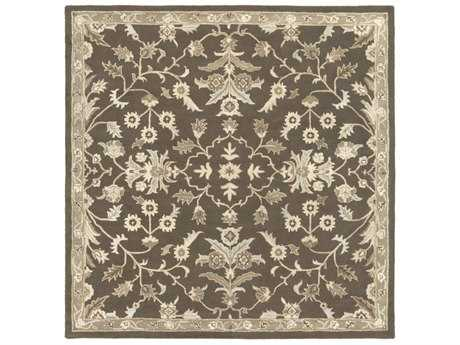 Surya Caesar Square Dark Brown, Medium Gray & Light Gray Area Rug