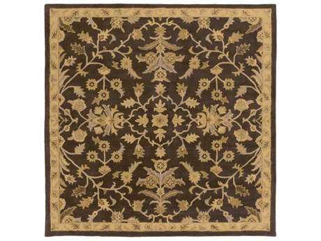 Surya Caesar Square Dark Brown, Camel & Tan Area Rug