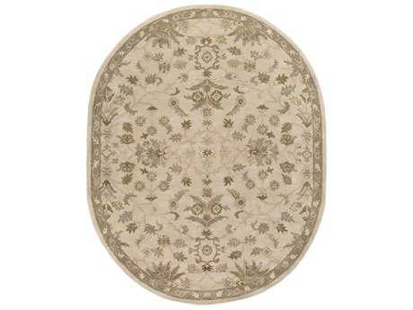 Surya Caesar Oval Khaki, Medium Gray & Light Gray Area Rug