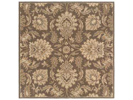 Surya Caesar Square Dark Brown, Khaki & Tan Area Rug