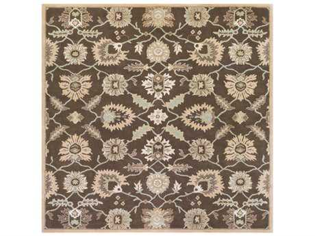 Surya Caesar Square Medium Gray, Dark Brown & Camel Area Rug