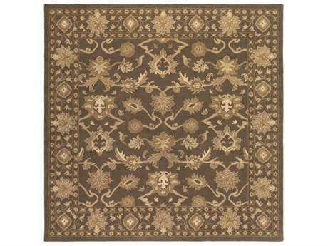 Surya Caesar Square Dark Brown, Tan & Ivory Area Rug