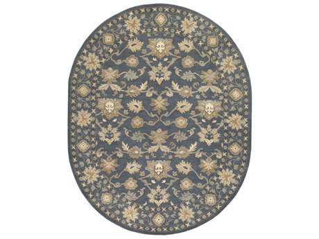 Surya Caesar Oval Black, Sea Foam & Ivory Area Rug