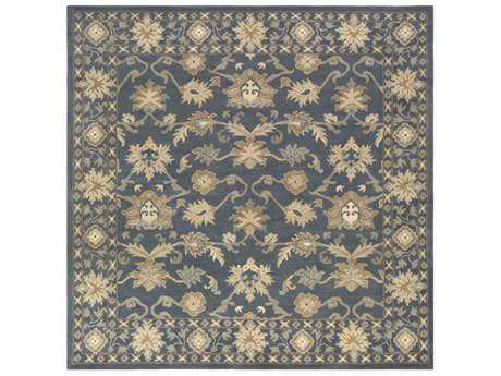 Surya Caesar Square Black, Sea Foam & Ivory Area Rug