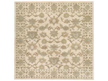 Surya Caesar Square Khaki, Tan & Sea Foam Area Rug
