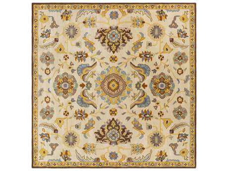 Surya Caesar Square Beige, Dark Brown & Tan Area Rug