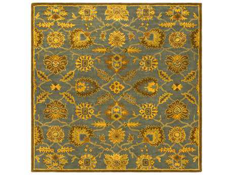 Surya Caesar Square Teal, Tan & Burnt Orange Area Rug