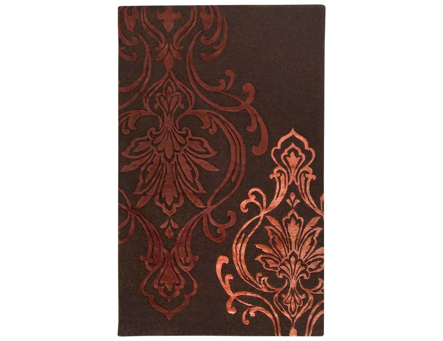 Surya candice olson modern classics rectangular red area for Candice olson area rugs