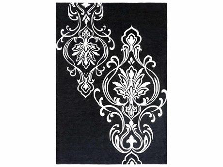 Surya Candice Olson Modern Classics Rectangular Black Area Rug