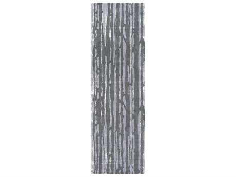 Surya Modern Classics 2'6'' x 8' Rectangular Medium Gray, Charcoal & Beige Runner Rug