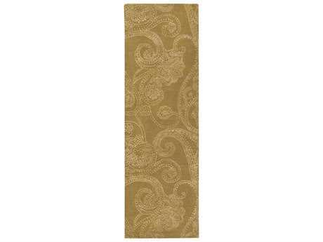 Surya Modern Classics 2'6'' x 8' Rectangular Tan & White Runner Rug