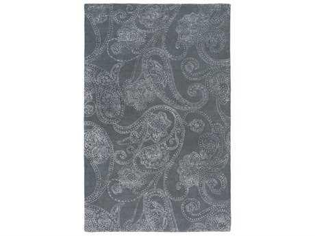 Surya Modern Classics Rectangular Medium Gray & White Area Rug