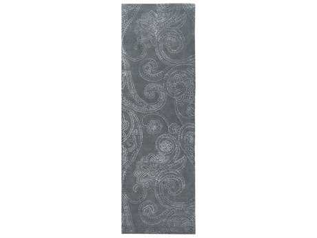 Surya Modern Classics 2'6'' x 8' Rectangular Medium Gray & White Runner Rug