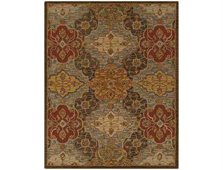 Surya Carrington Rectangular Green Area Rug