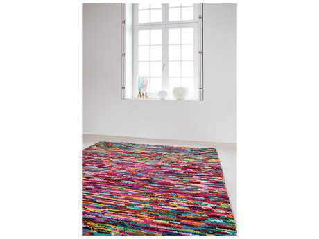 Surya Celebration Rectangular Bright Red, Grass Green & Lime Area Rug