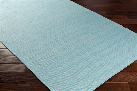 Surya Charette Rectangular Sky Blue & White Area Rug