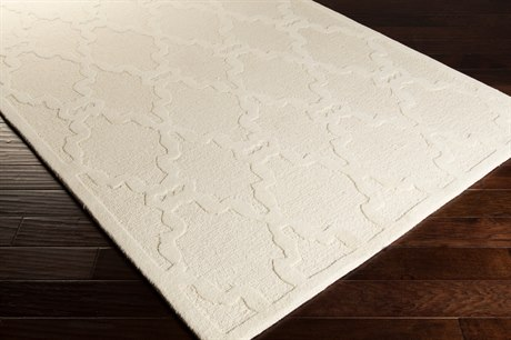 Surya Chandler Rectangular White Area Rug
