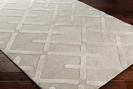 Surya Chamber Rectangular Taupe, Light Gray & Cream Area Rug