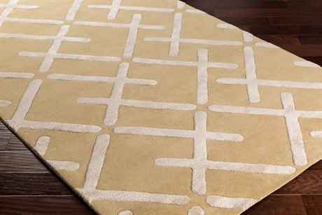 Surya Chamber Rectangular Tan, Khaki & Cream Area Rug