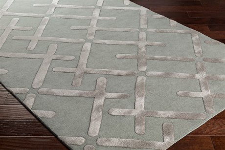 Surya Chamber Rectangular Sea Foam, Light Gray & Ivory Area Rug