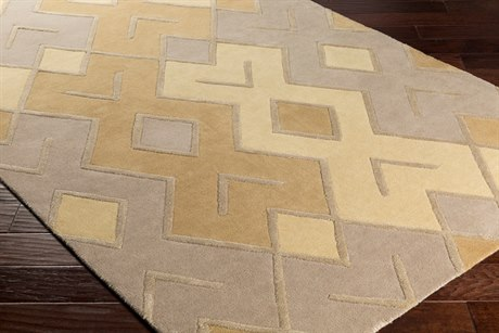 Surya Chamber Rectangular Wheat, Tan & Camel Area Rug