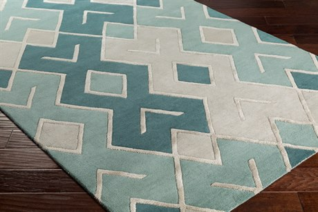 Surya Chamber Rectangular Light Gray, Dark Green & Sage Area Rug