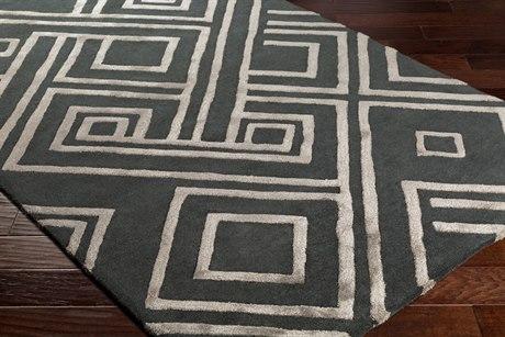 Surya Chamber Rectangular Charcoal, Medium Gray & Light Gray Area Rug